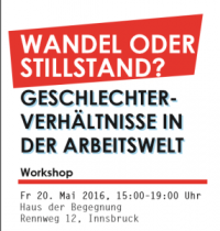 "Workshop ""Wandel oder Stillstand"""